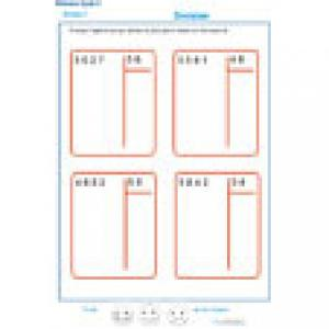 exercice 6 : divisions à deux chiffres CM2
