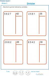 Divisions à deux chiffres - division euclidienne exercice 8