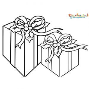 Deux cadeaux rectangulaires à colorier