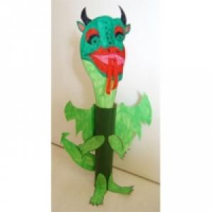 Bricolage enfant : dinosaure en papier