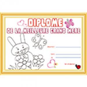 Diplome meilleure grand-mère petit lapin