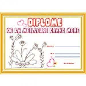 Diplome meilleure grand-mère papyrus
