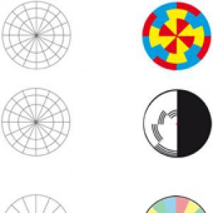 Formes géométriques des toupies