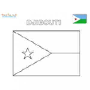 Coloriage du drapeau de Djibouti
