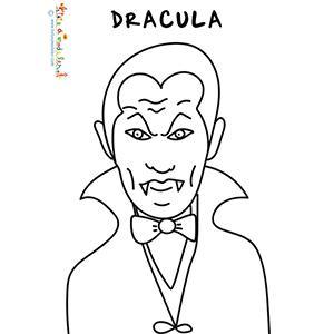 Coloriage de Dracula, un être fantastique buveur de sang ! Voici le coloriage du portrait de Dracula à colorier à l'occasion d'Halloween ou après un film sur les vampires.