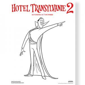 Hotel Transylvanie : coloriage de Dracula