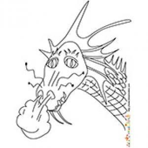 Coloriage tête de dragon