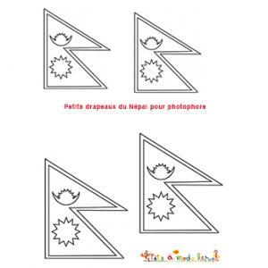 Petits drapeaux du Népal pour photophore