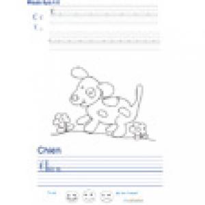Imprimer la page d'écriture sur le chien
