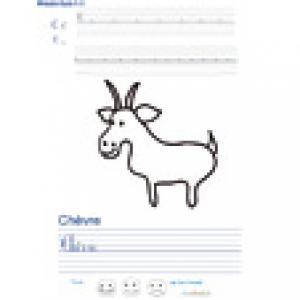 Imprimer la page d'écriture sur la chèvre