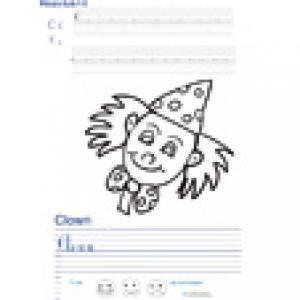 Imprimer la page d'écriture sur le clown