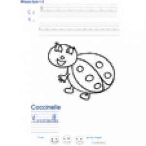 Imprimer la page d'écriture sur la coccinelle