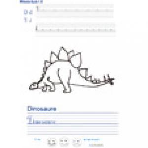Imprimer la page d'écriture sur le dinosaure