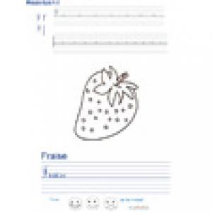 Imprimer la page d'écriture sur la fraise