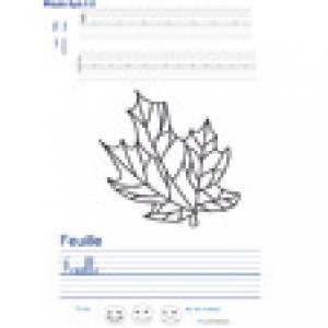 Imprimer la page d'écriture sur la feuille