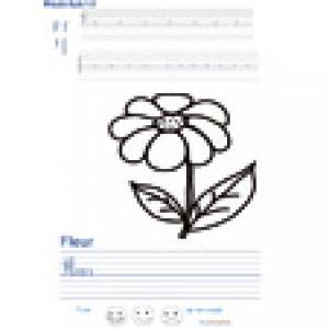 Imprimer la page d'écriture sur la fleur