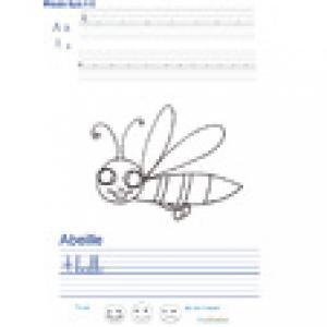 Imprimer la page d'écriture sur l'abeille