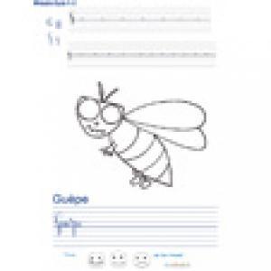 Imprimer la page d'écriture sur la guêpe