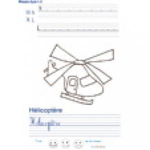 Imprimer la page d'écriture sur l'hélicoptère