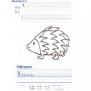 Imprimer la page d'écriture sur le hérisson