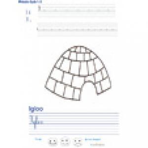 Imprimer la page d'écriture sur l'igloo