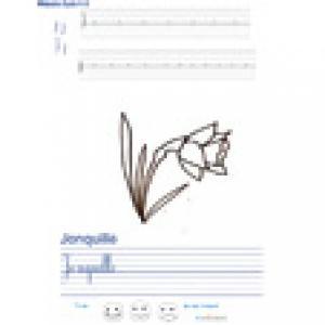 Imprimer la page d'écriture sur la jonquille