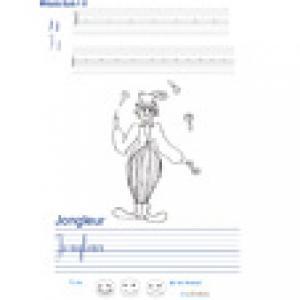 Imprimer la page d'écriture sur le jongleur