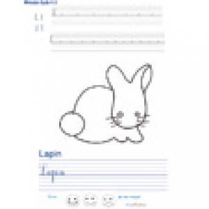 Imprimer la page d'écriture sur le lapin