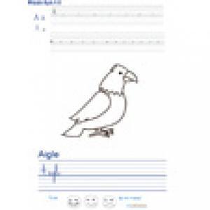 Imprimer la page d'écriture sur l'aigle