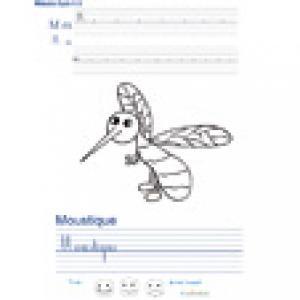 Imprimer la page d'écriture sur le moustique