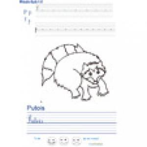 Imprimer la page d'écriture sur le putois
