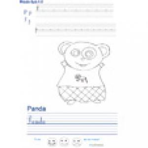 Imprimer la page d'écriture sur le panda