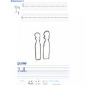 Imprimer la page d'écriture sur les quilles