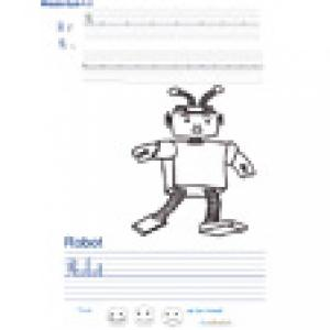 Imprimer la page d'écriture sur le robot