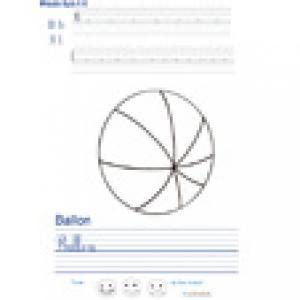 Imprimer la page d'écriture sur le ballon