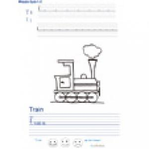 Imprimer la page d'écriture sur le train