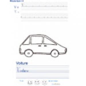 Imprimer la page d'écriture sur la voiture