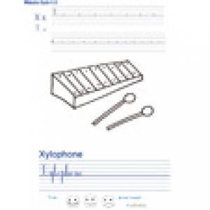 Imprimer la page d'écriture sur le xylophone
