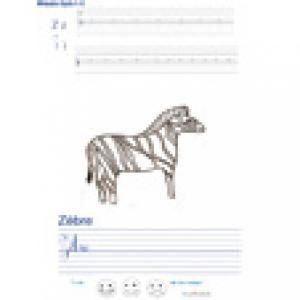 Imprimer la page d'écriture sur le zèbre