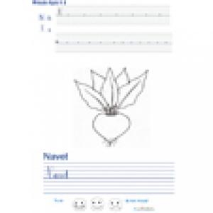 Imprimer la page d'écriture sur le navet