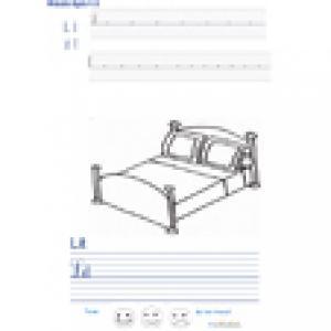 Imprimer la page d'écriture sur le lit