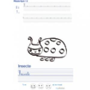 Imprimer la page d'écriture sur l'insecte