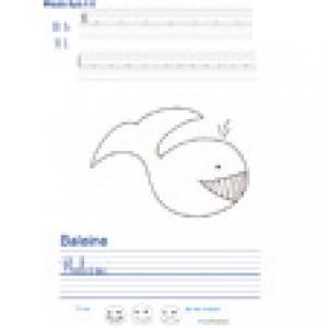 Imprimer la page d'écriture sur la baleine