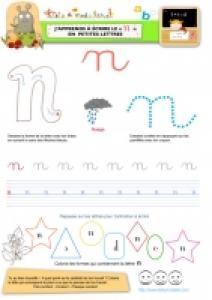 """Apprendre à écrire le """"N"""" de nuage en minuscule"""