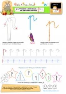 """Apprendre à écrire le """"P"""" de papillon en minuscule"""