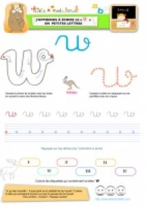 """Apprendre à écrire le """"W"""" de Walliby en minuscule"""