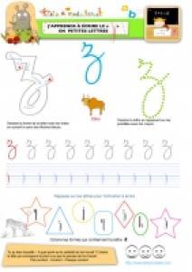 """Apprendre à écrire le """"Z"""" de Zébu en minuscule"""