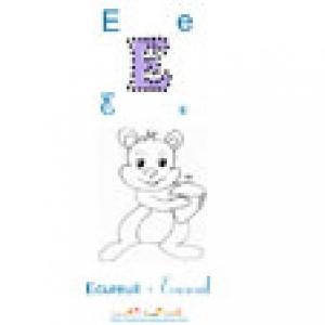 """lettre """"E"""", Lire et apprendre le """"E"""" comme dans ECUREUIL"""