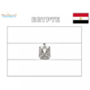 Coloriage drapeau Egypte