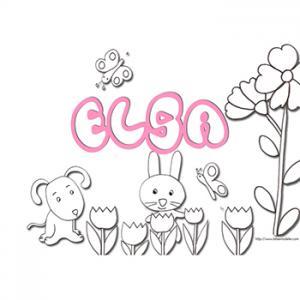 coloriage lettres de Elsa